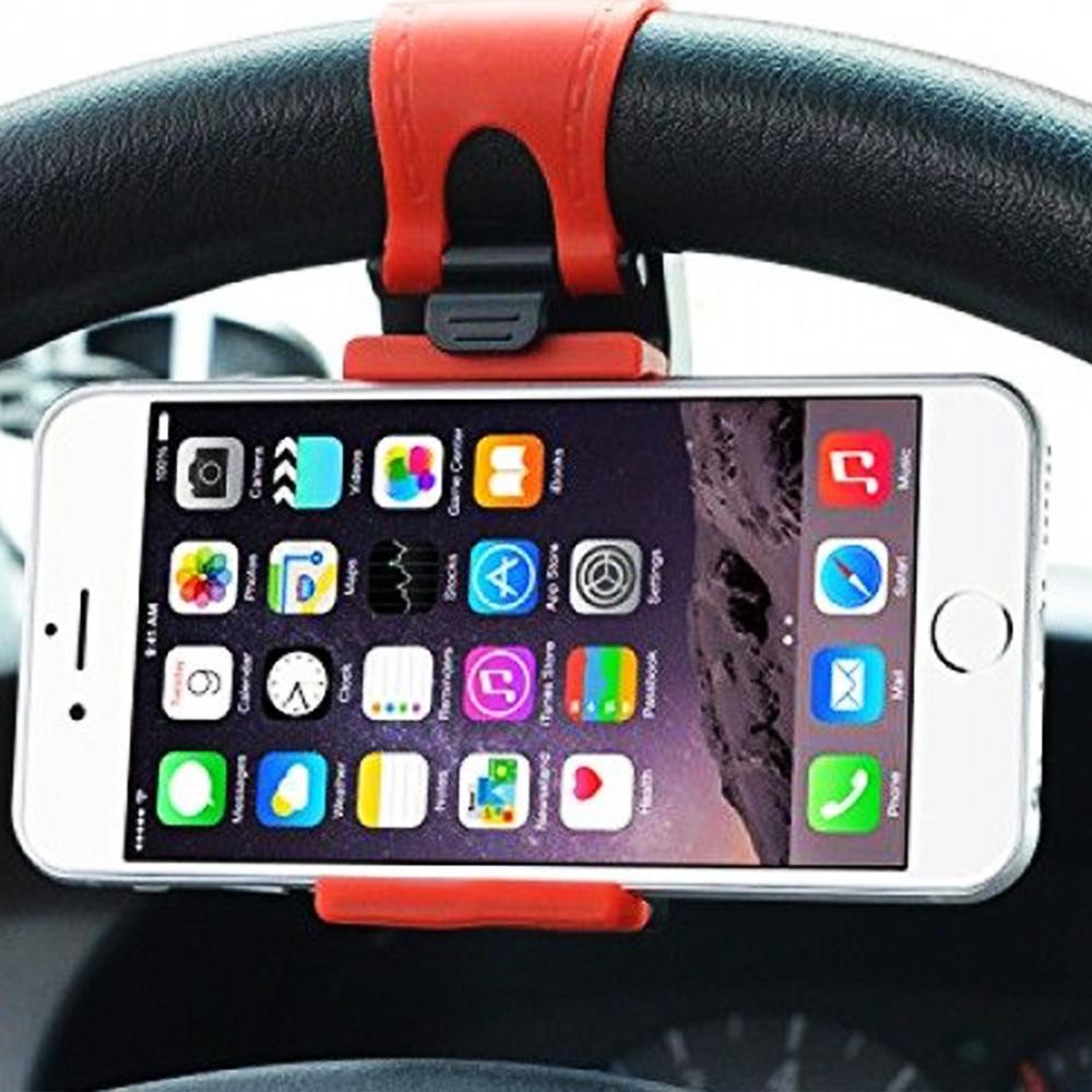 Иновативна стойка за телефон за волана на автомобила Car st.wheel phone socket holder