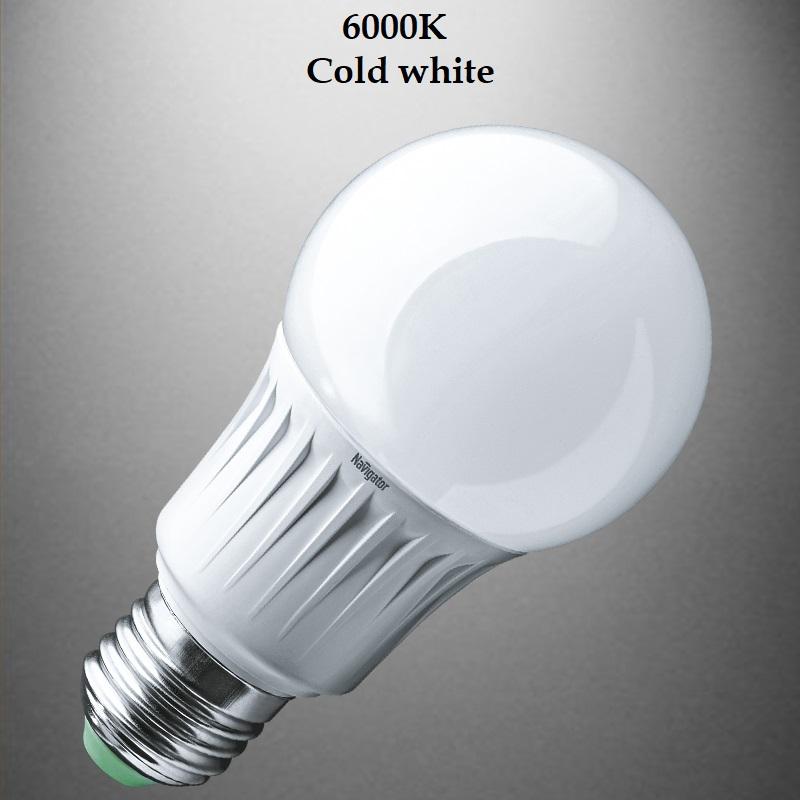 Най-ниска цена за мощна и икономична LED крушка 12W цокъл Е27, студена бяла светлина 6500К