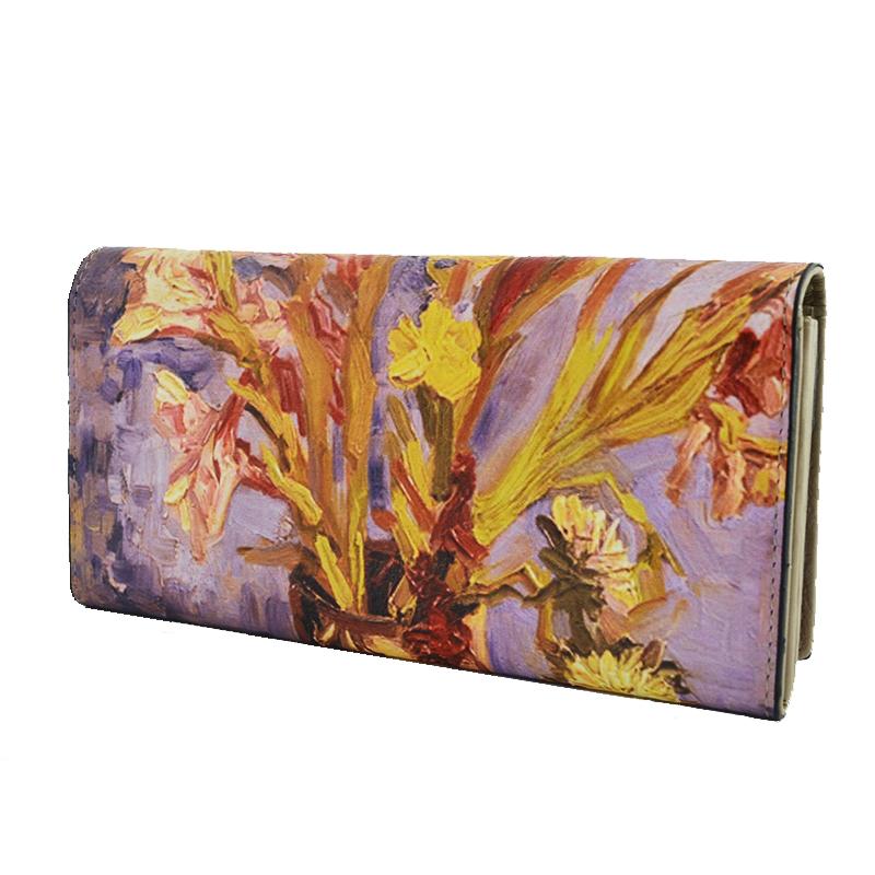 ЛУКС портфейл Ван Гог от естествена кожа и ръчна изработка, 456-3