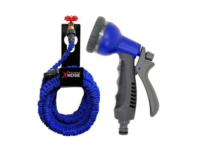 Лек разтягащ се до 7.5 метра маркуч MAGIC X HOSE и пръскалка със 7 режима