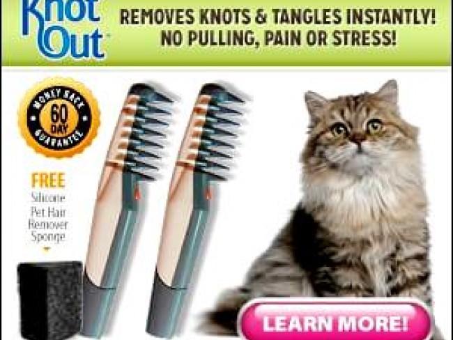 Електрически гребен КНОТ ОУТ сресва всяка козина и премахва сплитания и възли, 4 батерии