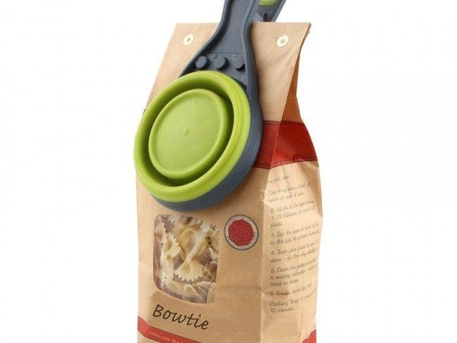 Кухненски инструмент 3 в 1 сгъваща се купа 237 ml, капачка за буркани и щипка за пакети