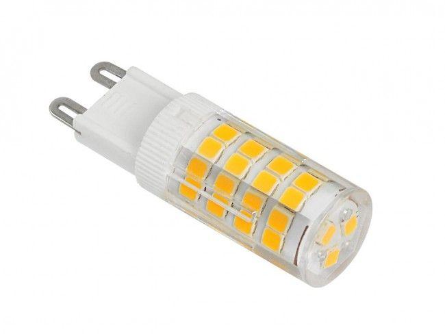 Мощна и икономична LED крушка G9 5W ~220V 3000K топла жълтеникава светлина