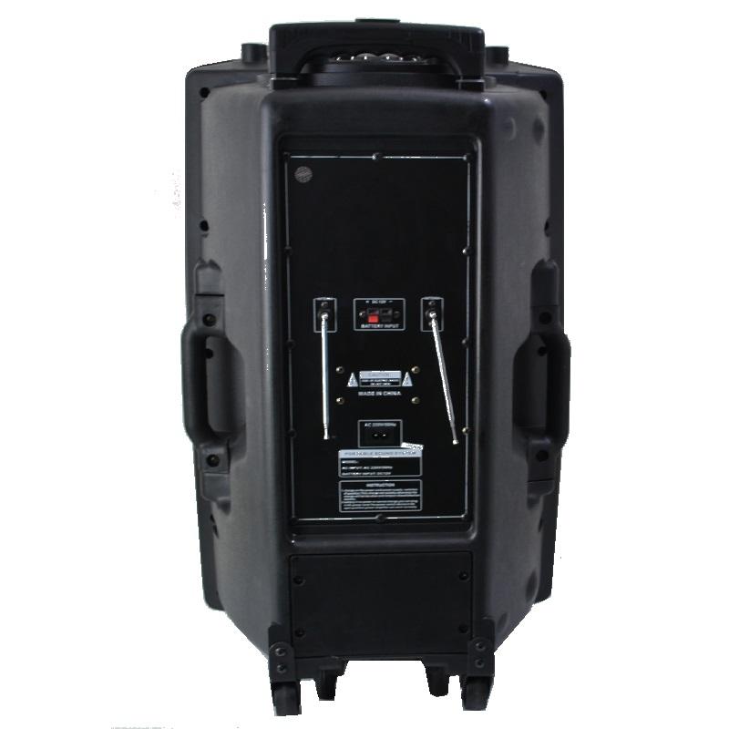 Мощна активна караоке тонколона 15 инча MBA F15L 750W с мощни LED диско светлини