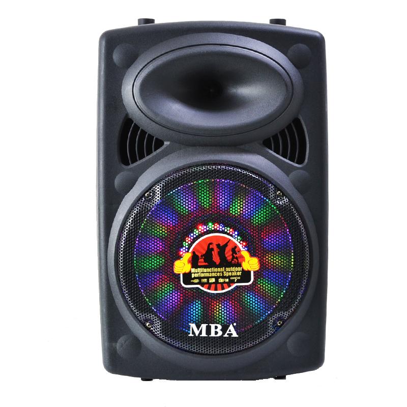 Компактна и лека мощна активна караоке парти тонколона MBA F12Q  500W, LED светл., RMS160W