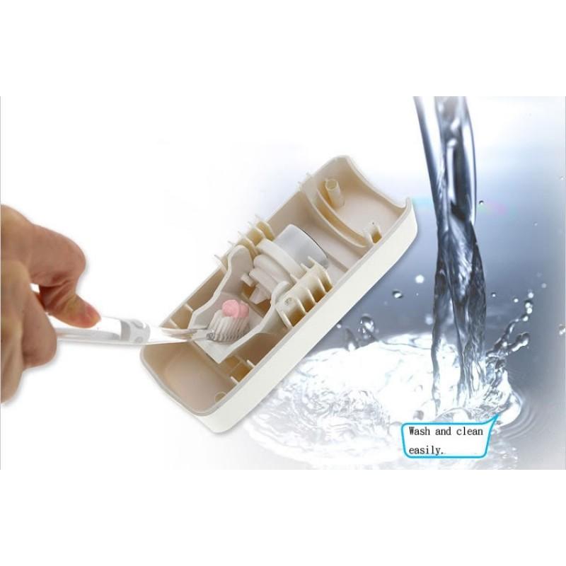 Автоматичен диспенсър за паста за зъби + поставка за 5 бр. четки за зъби