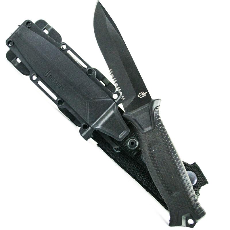 Топ модел тактически, многоцелеви нож GERBER 1214B BLACK EDITION USA, Ловен нож
