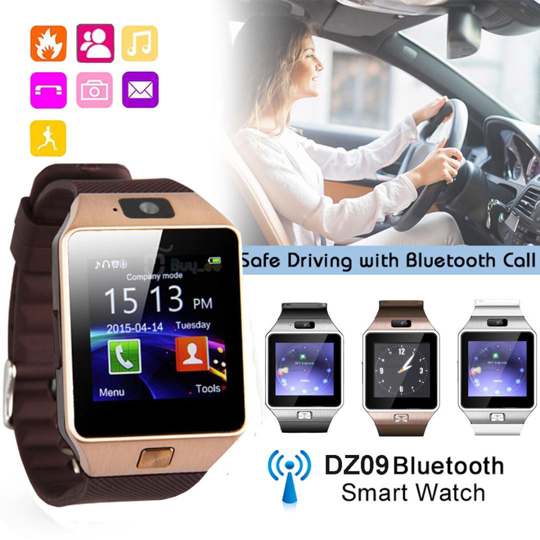 Смарт часовник - телефон DZ09 GOLD със SIM карта, слот за памет, блутут, камера