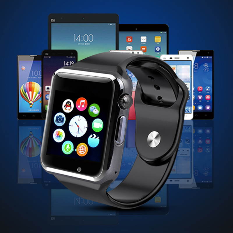 Eлегантен смарт часовник A1 със GSM модул със слот за SIM карта, SD, блутут и др., дждж