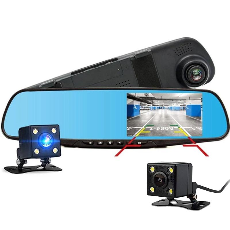 Огледало за задно виждане с 2 камери: преден видеорекордер и задна за паркиране  REAR VIEW