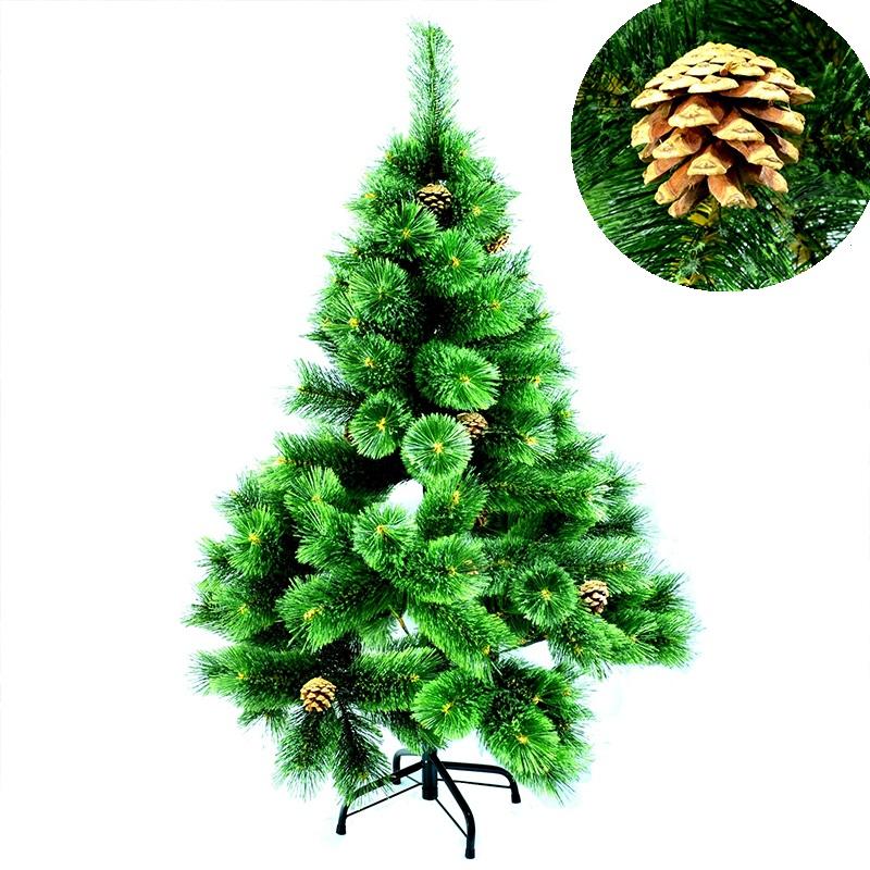 Лукс коледна елха с шишарки - височина 210 см. / № 9-257