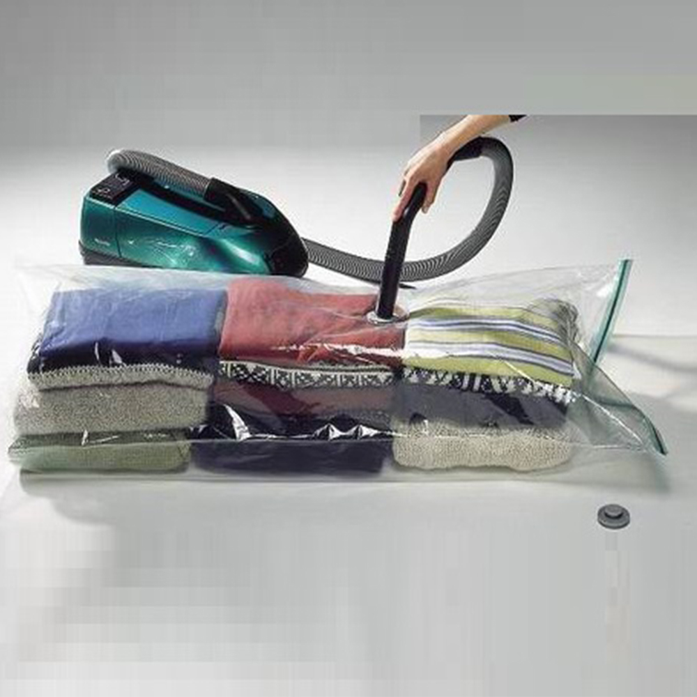 Вакуумни пликове за съхранение и запазване на дрехи и др. в намален обем, 80х110 см