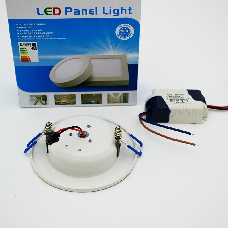 4 броя луксозни LED лунички за вграждане LPL 5W студена бяла светлина, 220V