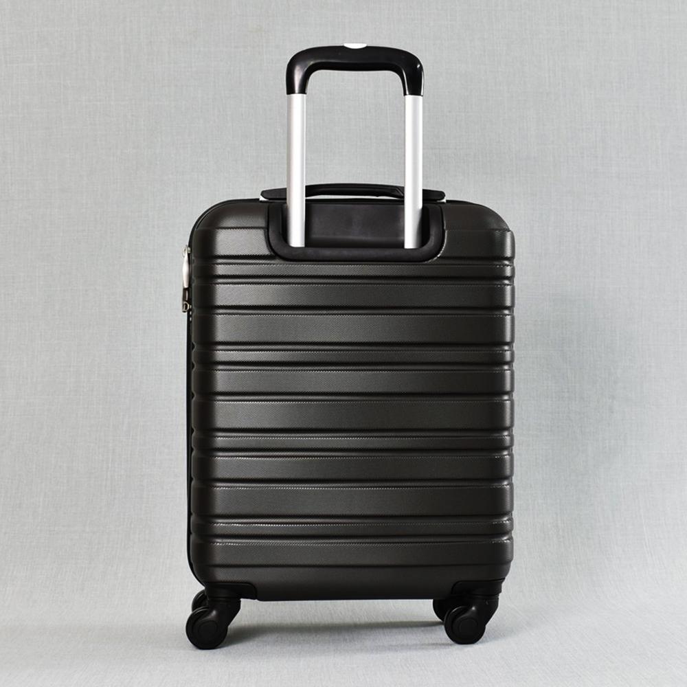 Класен ABS куфар - спинър за ръчен багаж 8094 ROYAL BLACK 52/42/20, 2.4 кг., всички екстри