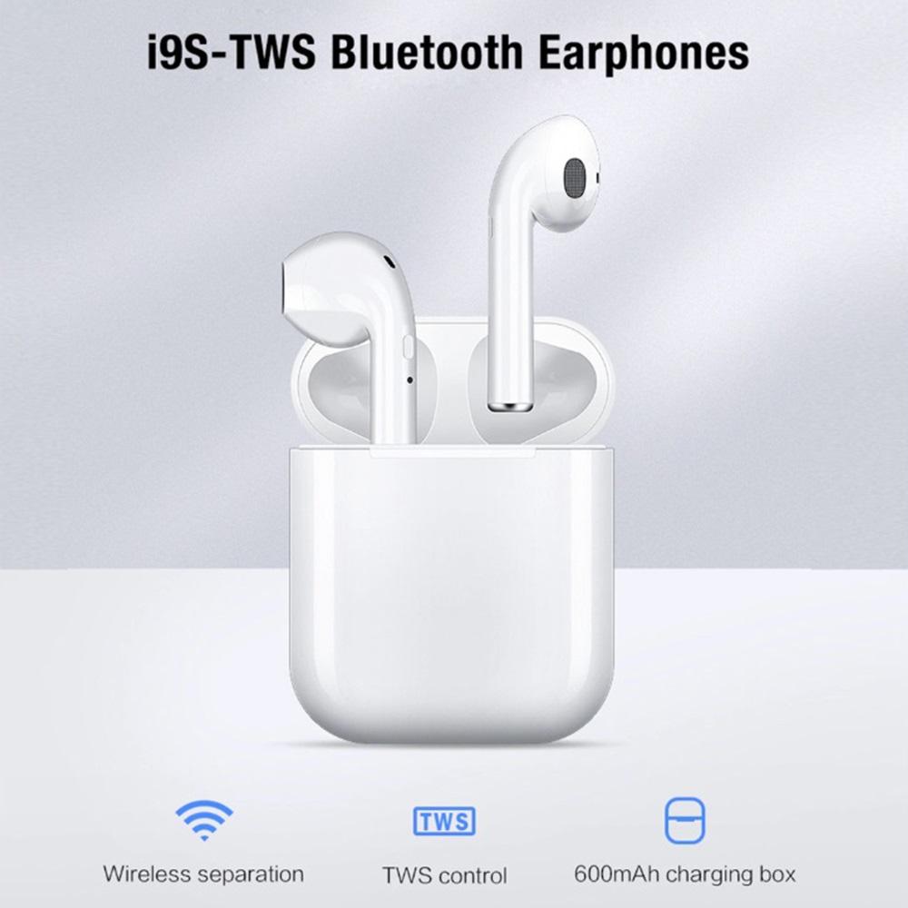 Ново поколение безжични слушалки i9 TWS със зареждаща кутийка-батерия