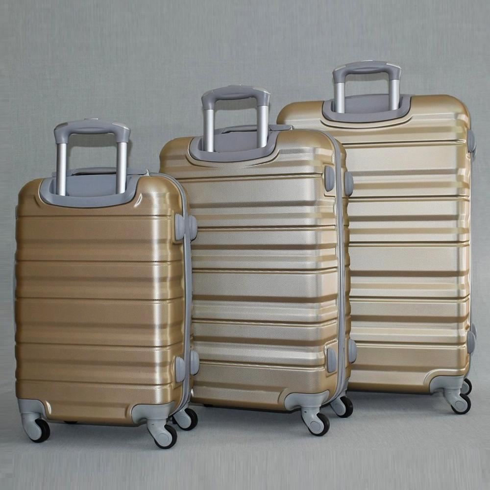 Комплект 3 броя ABS твърди и леки спинър-куфари PERFECT++ LINE 1253 COFFEE