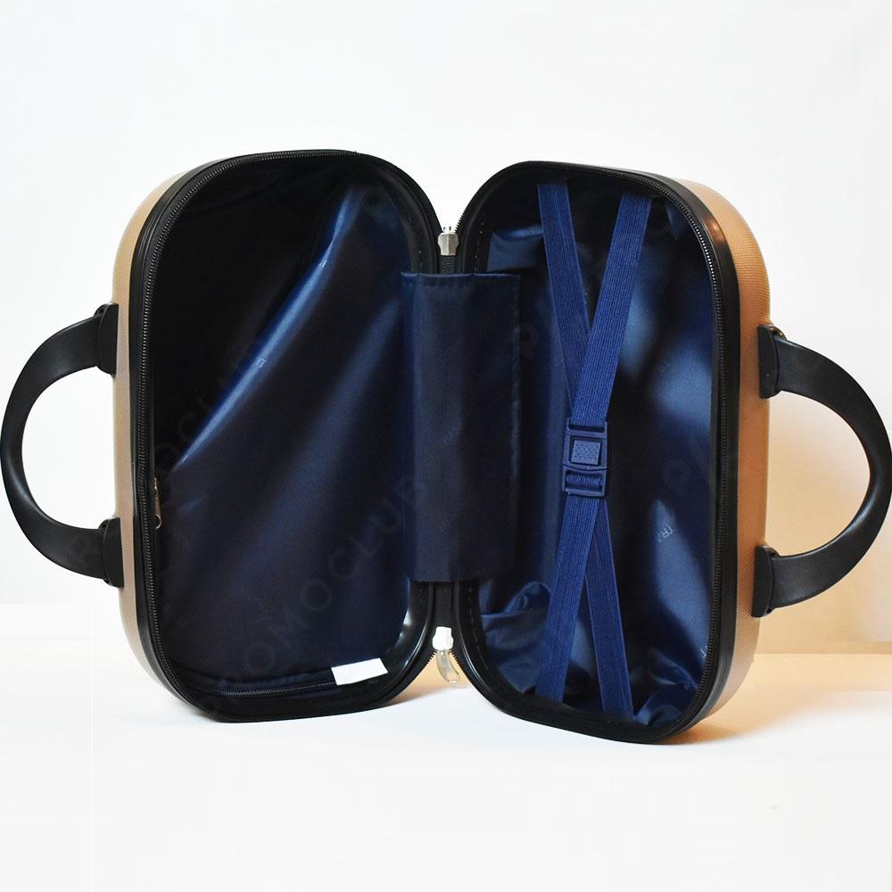 Рядък дизайн куфарна пътна чанта LADY B CYCLAM, твърда ABS и ПОДАРЪК - трицифрен катинар