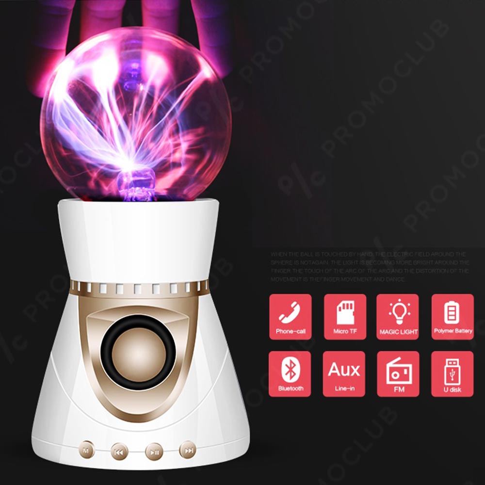 Плазмена блутудна тонколона с цветомузикална функция MAGIC SPEAKER KP8000 WHITE