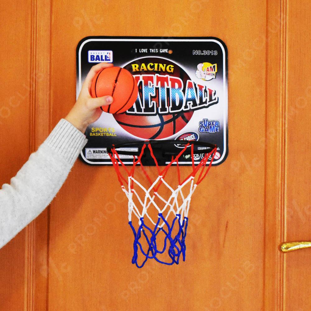 Малък домашен баскетболен кош с мека топка за безопасна игра