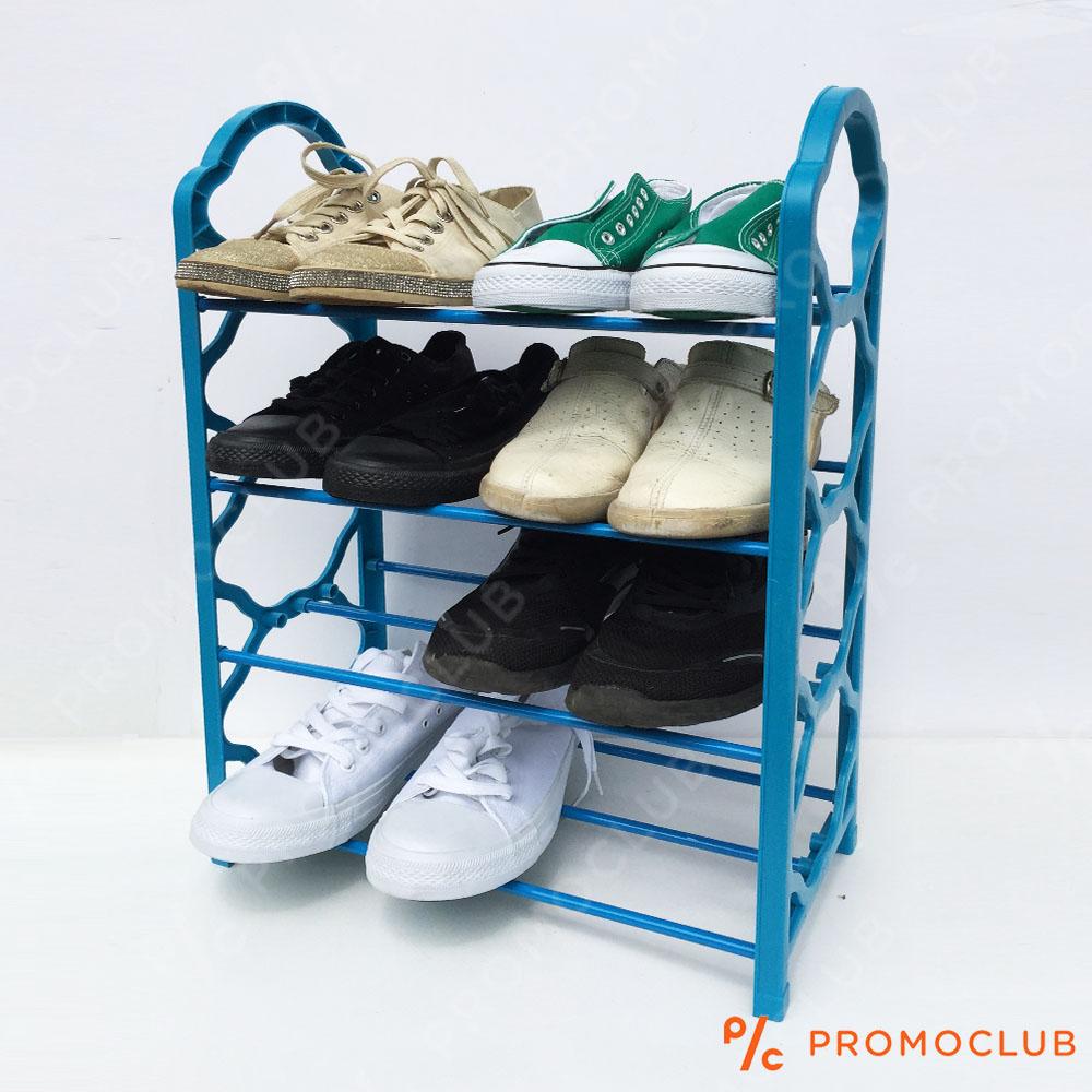 Четири редов стелаж за обувки  SHOES RACK IV СИН ЦВЯТ