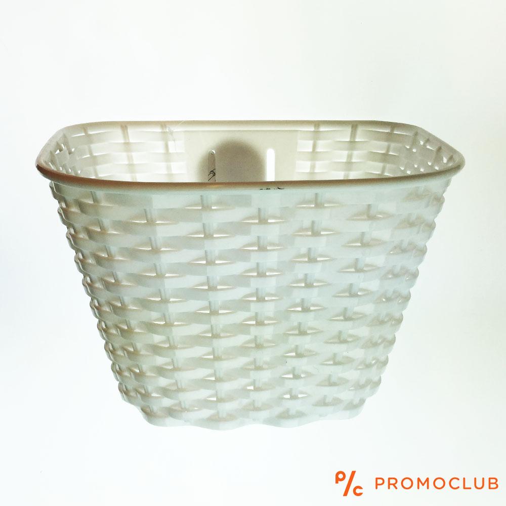 Бяла вело кошница за детски велосипед, пластмасова