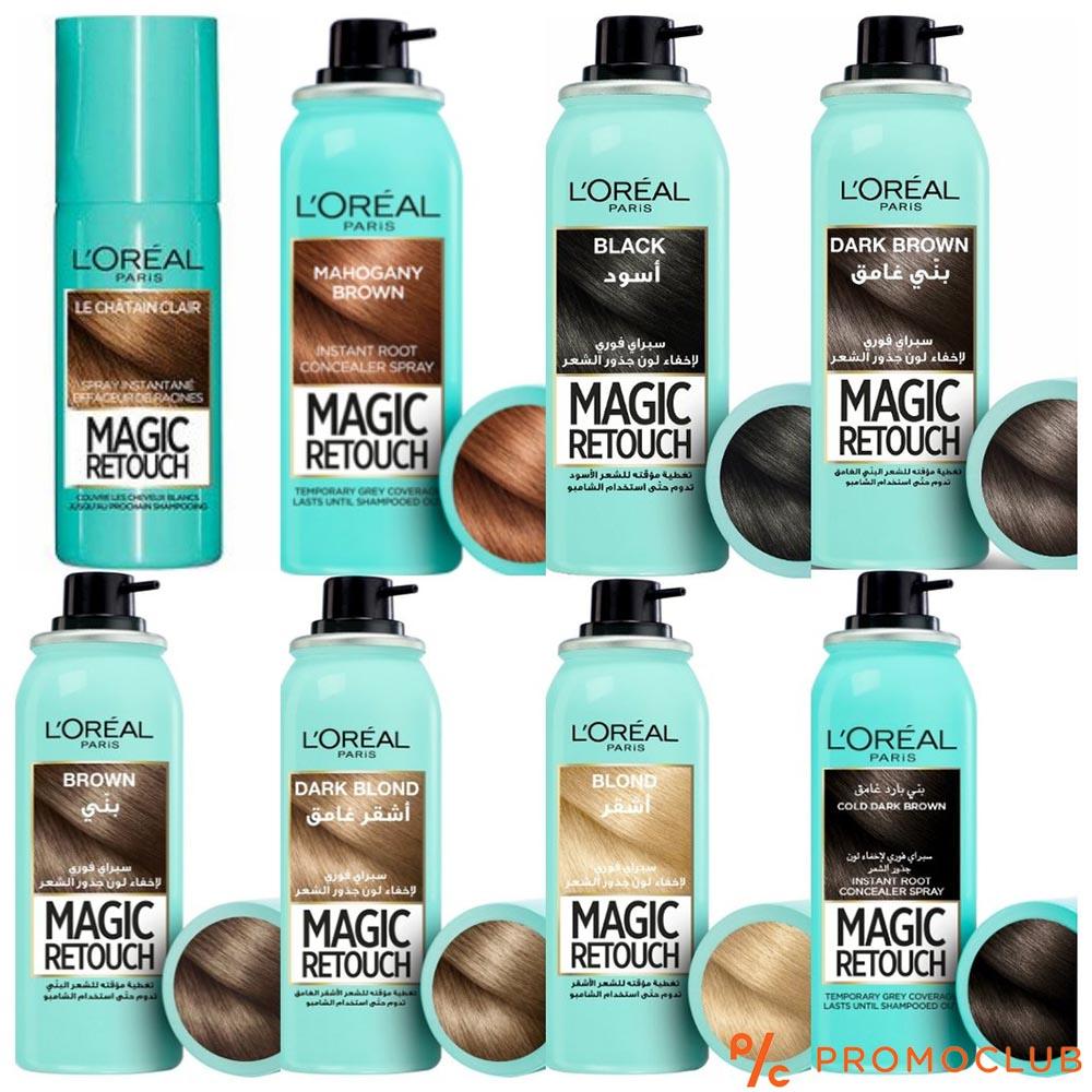 Оцветяващ спрей за коса LOREAL Magic TOUCH BLACK, черен, 75 мл., YOUR FIX