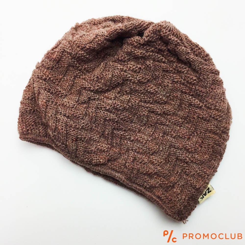 Елегантна зимна дамска шапка ZAK DREAM BROWN, 50% вълна