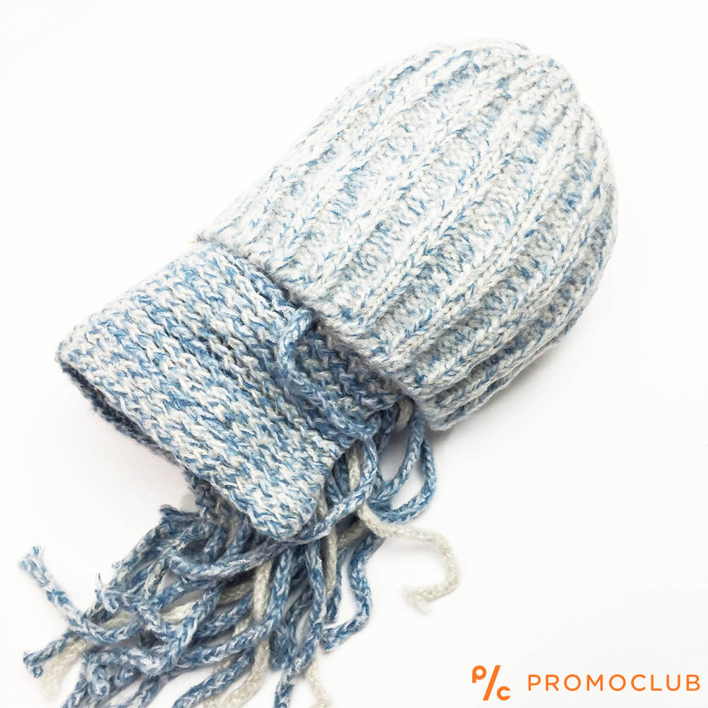 Комплект зимни шапка и шал ZAG LIGHT BLUE супер меки и нежни