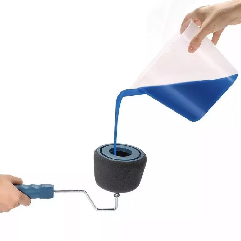 ОРИГИНАЛЪТ: Paint Roller пълнещи се БЕЗКАПКОВИ валяци за бързо и качествено боядисване