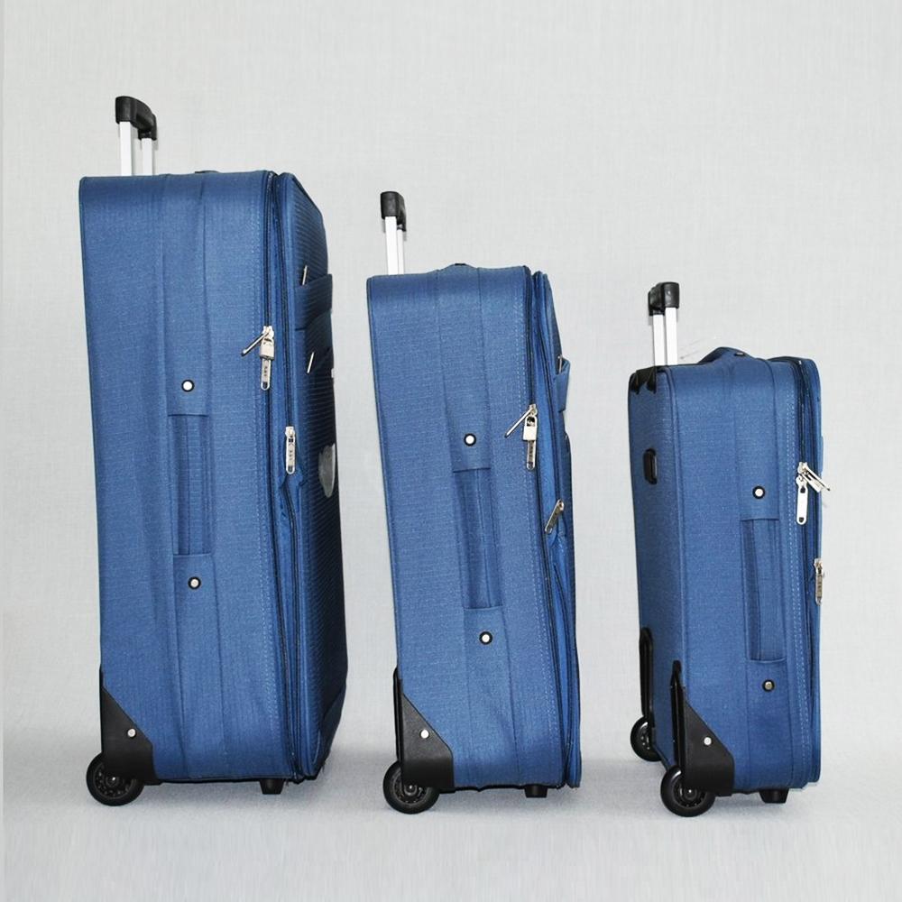 СУПЕР ПРОМО: комплект 3 авио куфара HQC 0042 GREY CLASSIC с възможност за разширение +5 см