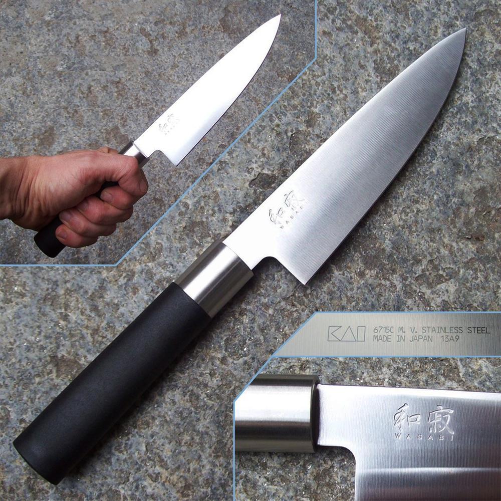 Ножа на главния готвач, KAI 6715C, професионален японески нож Chefs knife, 27,6 см, VG2