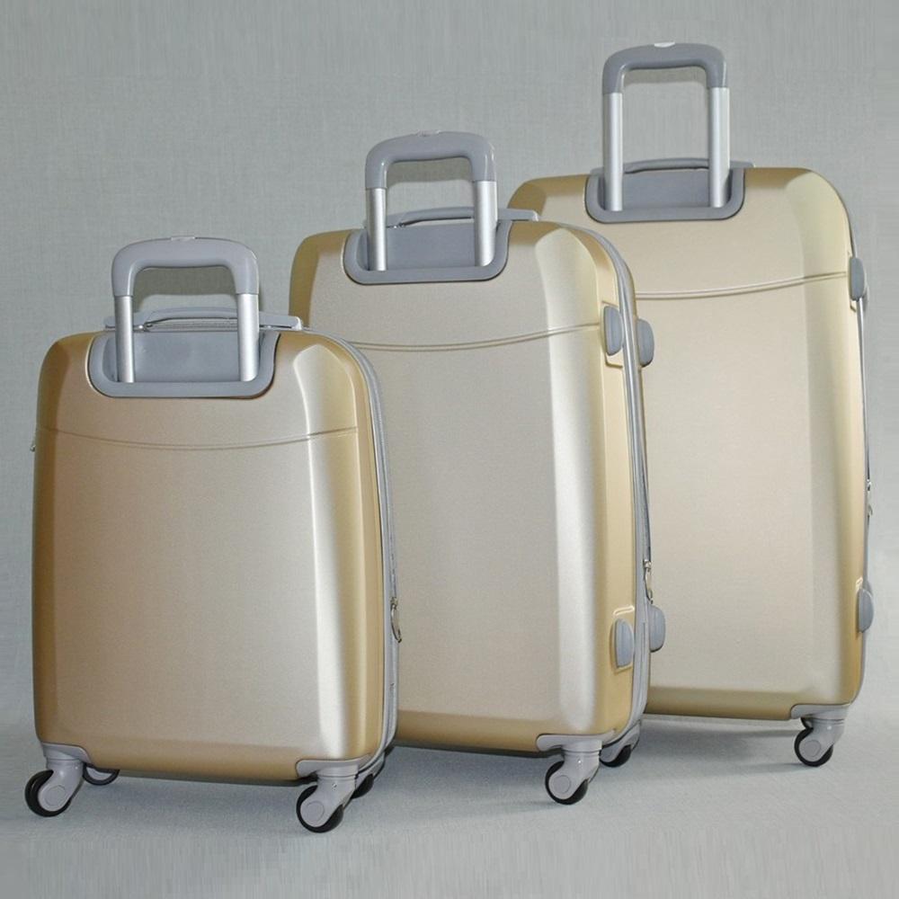 Комплект луксозни разширяващи се куфари - спинъри ULTRA LIGHT TRAVELER 8093 COFFEE