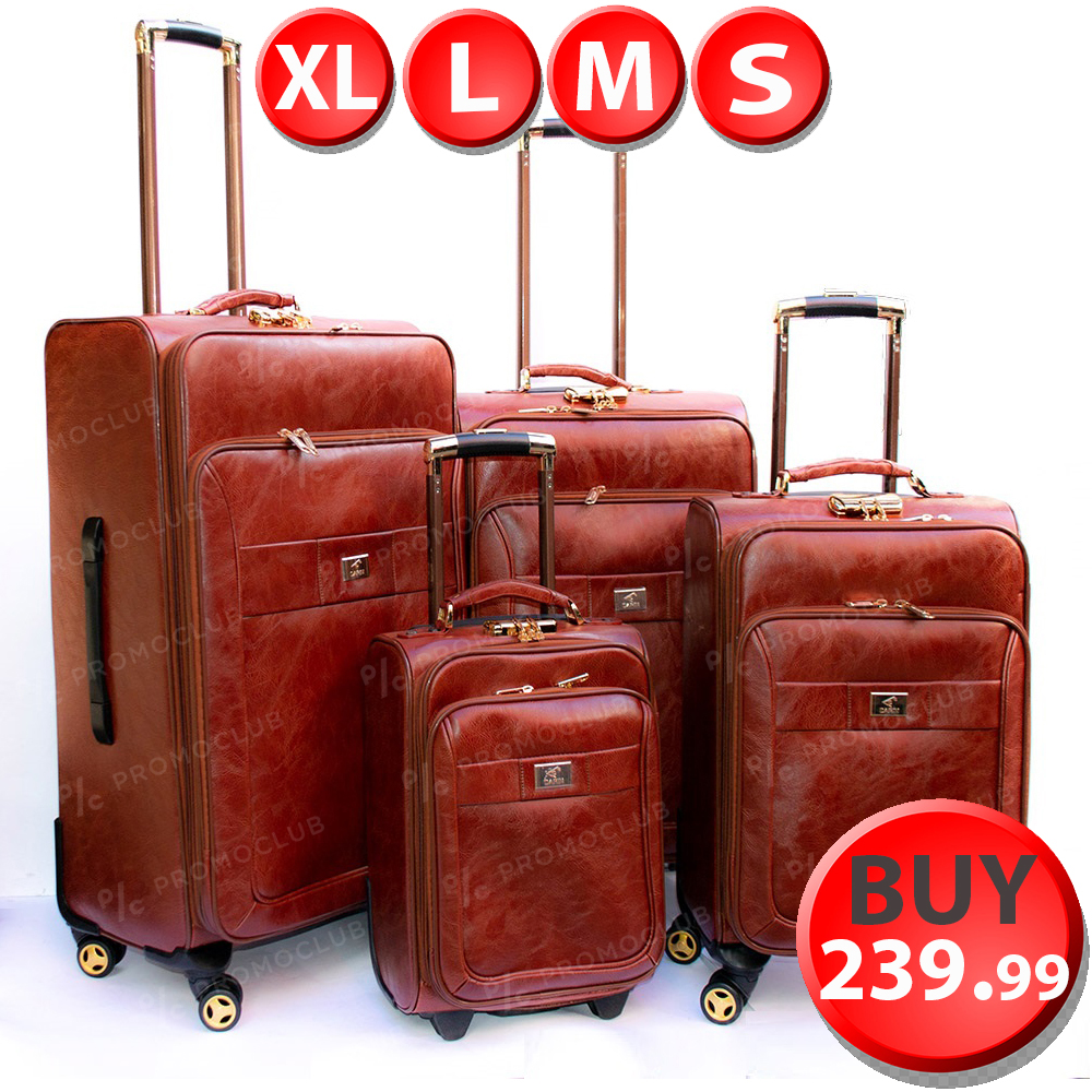 ЛИКВИДАЦИЯ: кожен куфар PILOT HANDLE PH01 L-BROWN, L размер 69 x 42 x 26 см