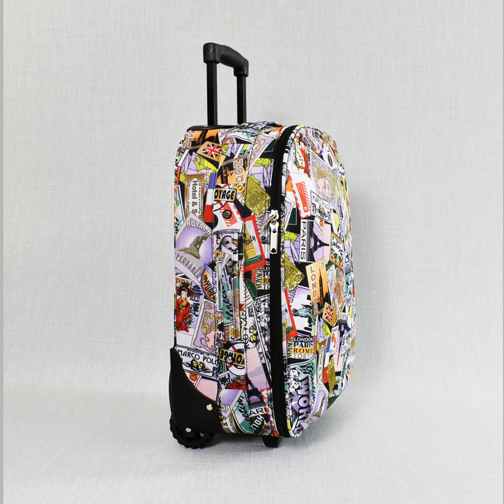 Лек куфар за ръчен багаж 1807 COLOR DOTS, 53 x 40 x 22