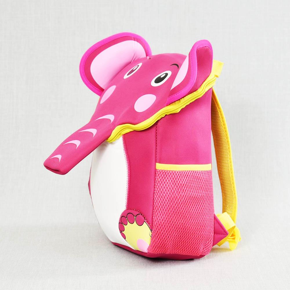 Лека, компактна детска раница PINK ELEPHANT 41292, розово слонче