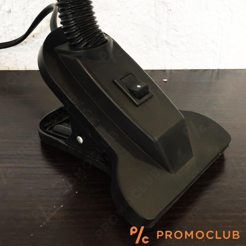 Подвижна нощна лампа-щипка с огъващо се рамо BLACK CLIP