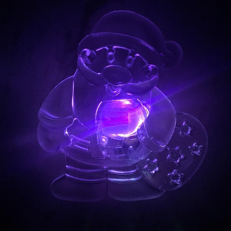 LED светеща коледна суперфигурка на Дядо Коледа - свети в различни цветове
