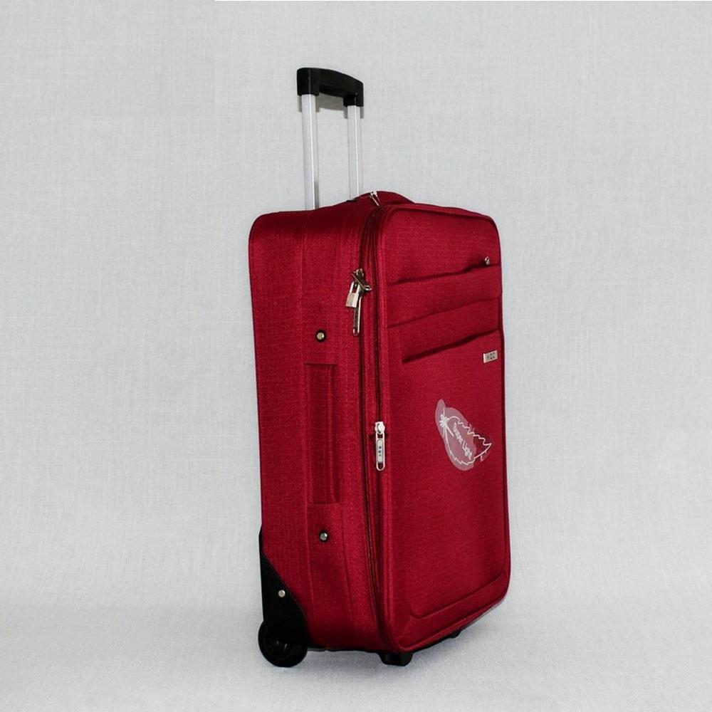 Текстилен авио куфар с разширение HQC42-1 GREY за ръчен багаж, 55х40х20 см