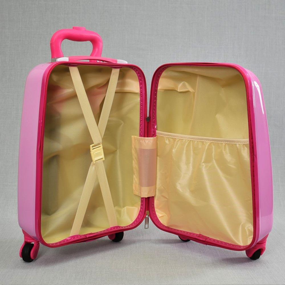 Детски куфар PUPPY 31800, 4 безшумни колела, изтегляща се дръжка, поликарбон