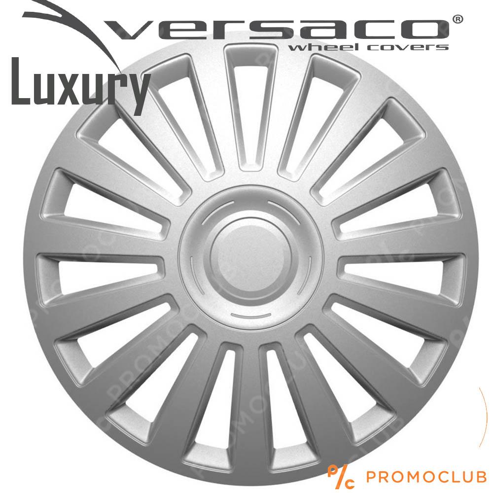 4 автомобилни тасове VERSACO LUXURY SILVER, размер 13 цола, висок клас