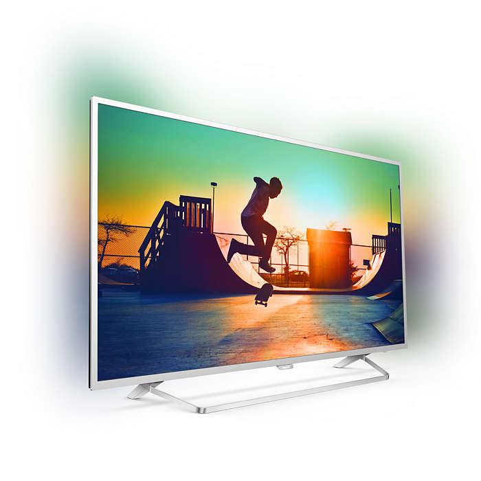 Ултра тънък 4К ANDROID SMART LED телевизор PHILIPS 43PUS6412/12 43 инча/ 108 см