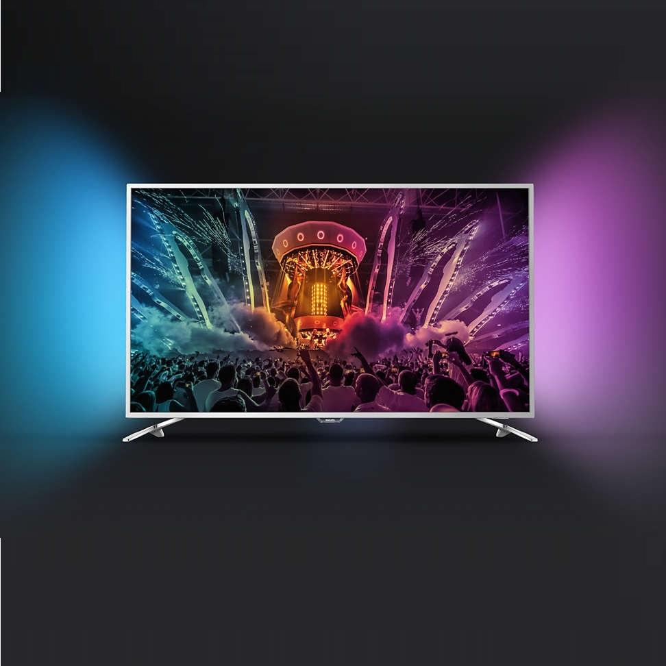 Ултра тънък 4К ANDROID SMART LED телевизор PHILIPS 43PUS6501/12 43 инча/ 108 см