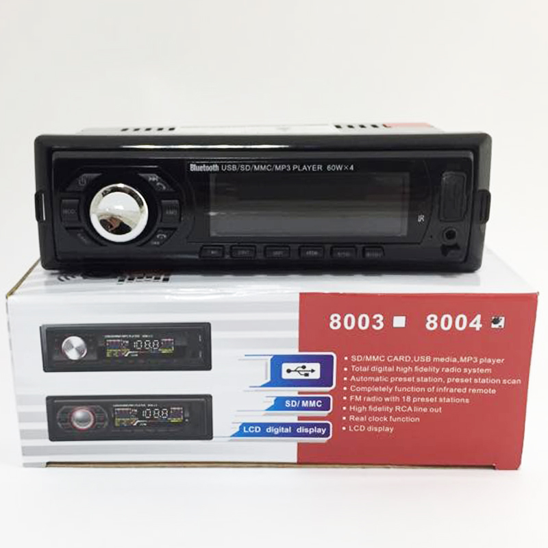 Авто аудио 8004 XPLD  MP3, FM, SD memory, USB, Bluetooth, 4x35W , ПАДАЩ ПАНЕЛ