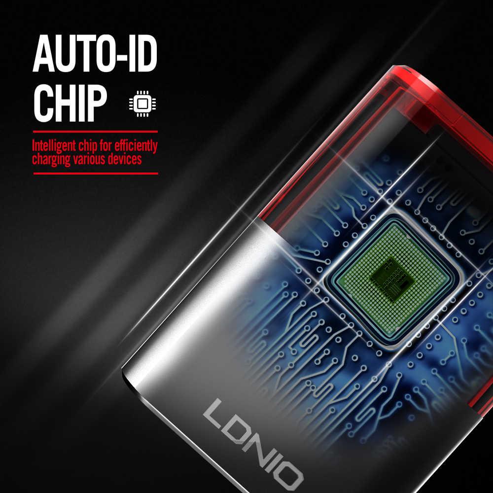 Хай-тек зарядно за ANDROID LDNIO A201, 2 USB 2.4A, кабел micro USB ANDROID