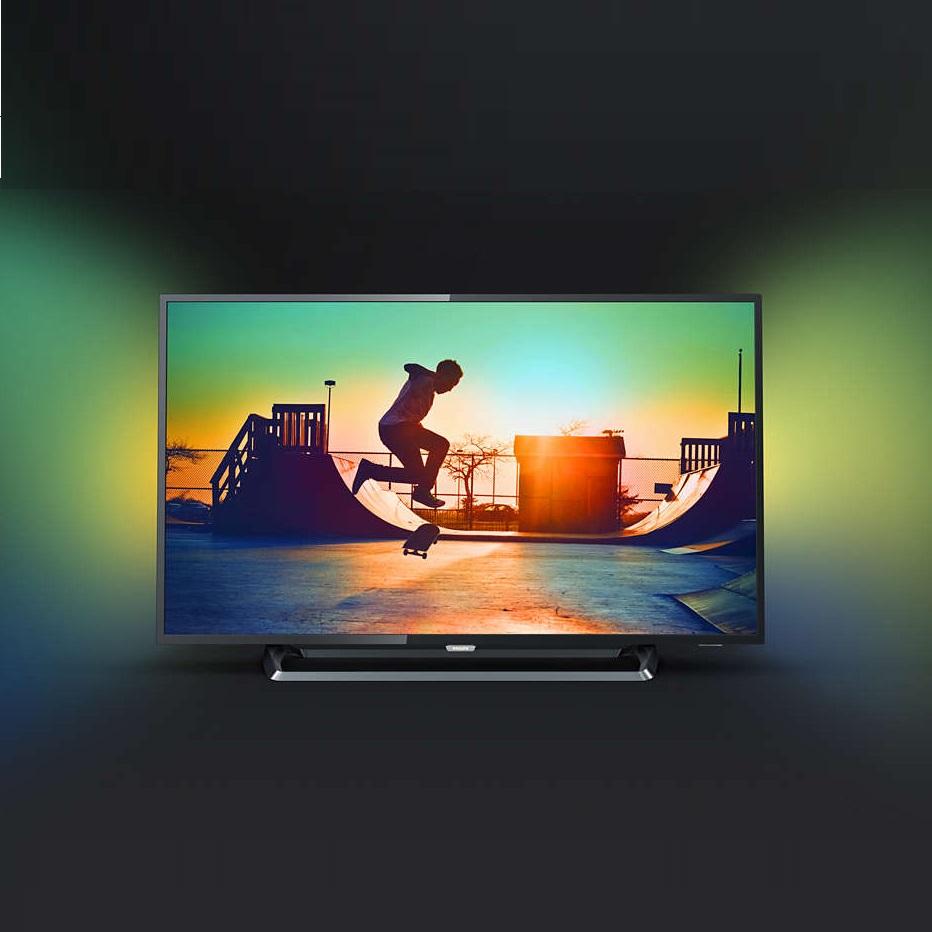 Ултра тънък 4К ANDROID SMART LED телевизор PHILIPS 50PUS6262 50 инча/ 126 см ULTRA HD