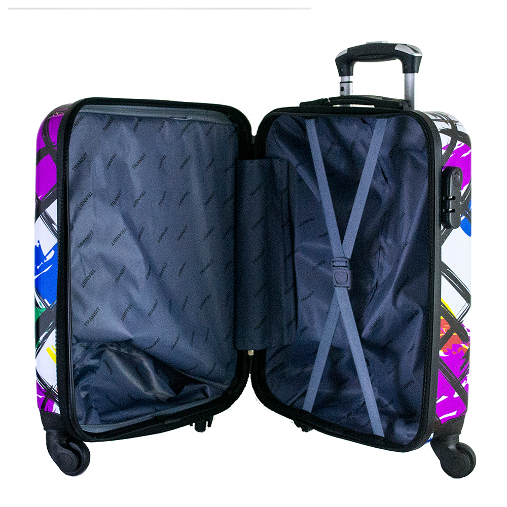 Най-висок клас поликарбонов авио куфар-спинър за ръчен багаж HANDLE TRAVELLER 910-6