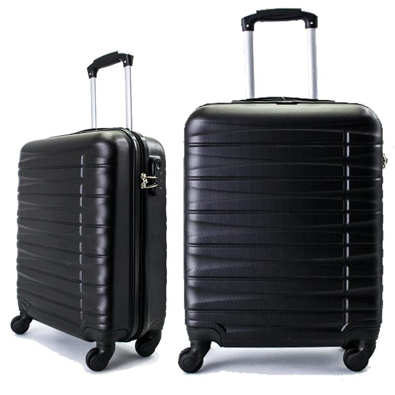 Куфар - спинър за ръчен багаж TRANSIT 837 RAYANAIR и WIZZAIR, PREMIUM CLASS, BLACK