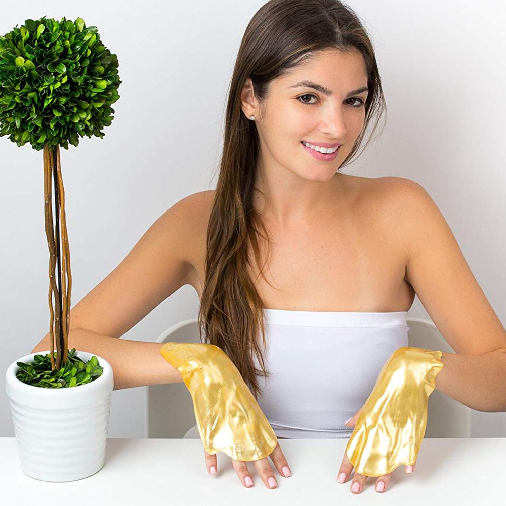 Ликвидация:златна колагенова маска за ръце: освежава, възстановява, подмладява ръчичките