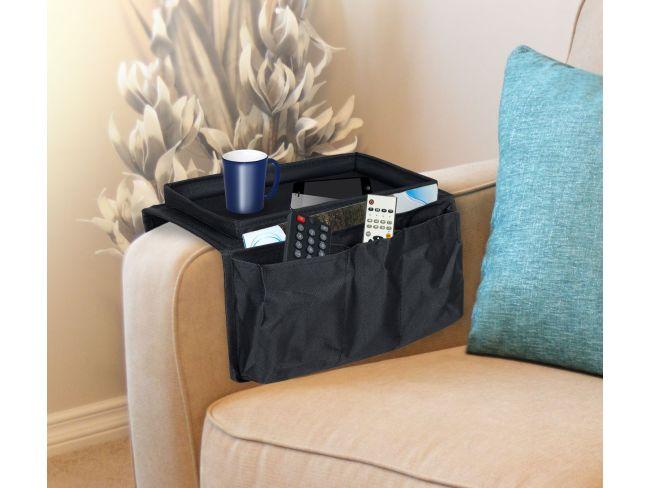 Безкрайно удобен органайзер за диван ARM REST ORGANIZER събира очила, книги и вестници