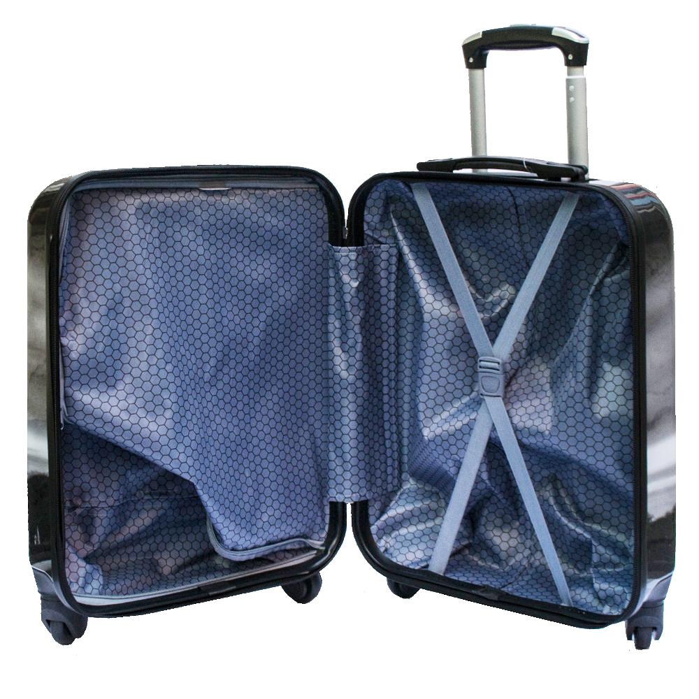 Куфар-спинър за ръчен багаж GREAT BRITAIN 910 LIMITED, поликарбон, LA TOUR EIFFEL, RED CAR